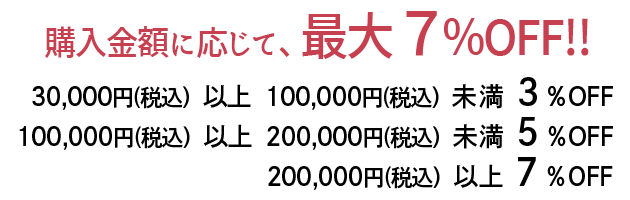 30,000円以上100,000円未満の講座申込み